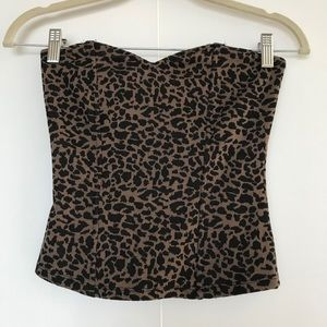 URBAN OUTFITTERS   LEOPARD PRINT BUSTIER